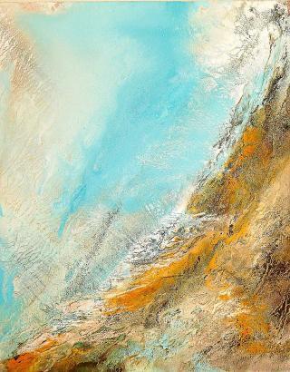 Bis zu zehn Kilo wiegen die Gemälde von Carsten Westphal.