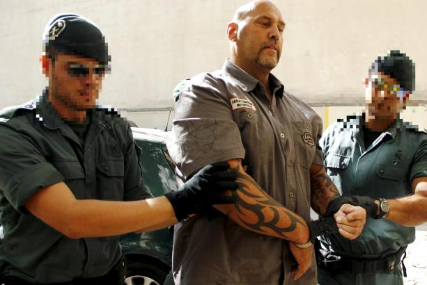 Frank Hanebuth bei seiner Festnahme auf Mallorca im Juli 2013.