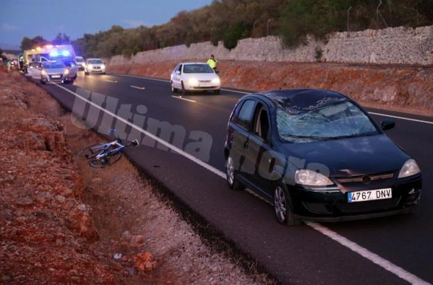 Der Unfall passierte an der alten Landstraße von Sineu im Inselinneren von Mallorca.