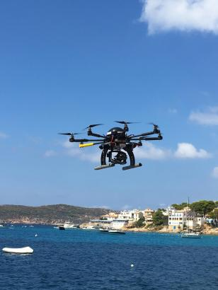 Drohneneinsatz an der Südwestküste Mallorcas.