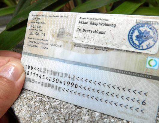"""Wer sich in der Heimat abgemeldet hat, hat im Perso """"Keine Hauptwohnung in Deutschland"""" stehen"""