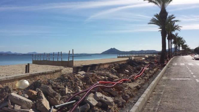 Bereits im vergangenen Winter hatten die Arbeiten in Port de Pollença im Nordwesten von Mallorca begonnen.