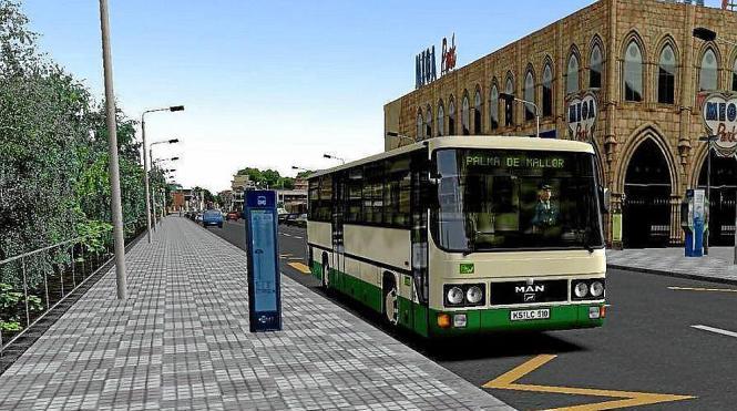 In der Simulation sind noch die deutschen Busse zu sehen, doch im Computerspiel wird der Gamer die blauen EMT-Fahrzeuge rund um