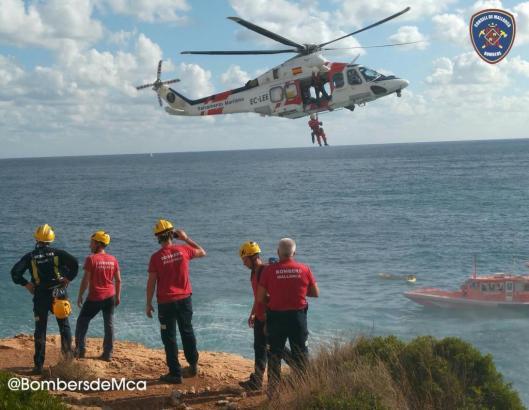 Die Seerettung konnte den Schwerverletzten nahe der Cala Santanyí im Südosten von Mallorca mit einem Hubschrauber bergen.