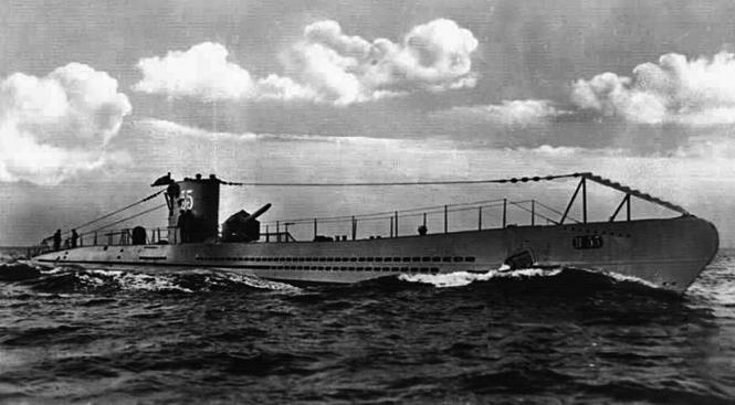 """Das deutsche Unterseeboot """"U-35"""" hatte sein Einsatzgebiet während des Ersten Weltkrieges im Mittelmeer."""