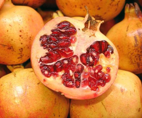 Der Granatapfel schmeckt nicht nur köstlich, ist gesund, sondern sieht auch noch gut aus