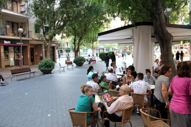 Terrassen-Cafés in Palmas Zentrum.