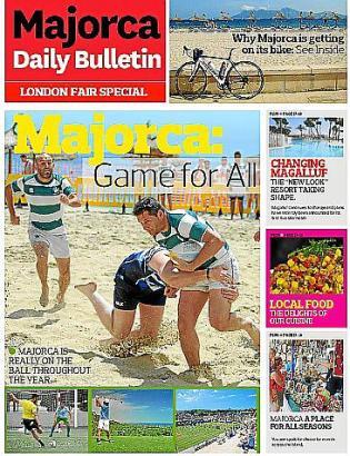 """Zum World Travel Market präsentierte das englischsprachige MM-Schwesterblatt """"Majorca Daily Bulletin"""" eine 40-seitige Sonderbeil"""