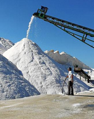 Auf den Anlagen rund um Campos wurden in diesem Jahr 6.000 Tonnen Meersalz gewonnen.