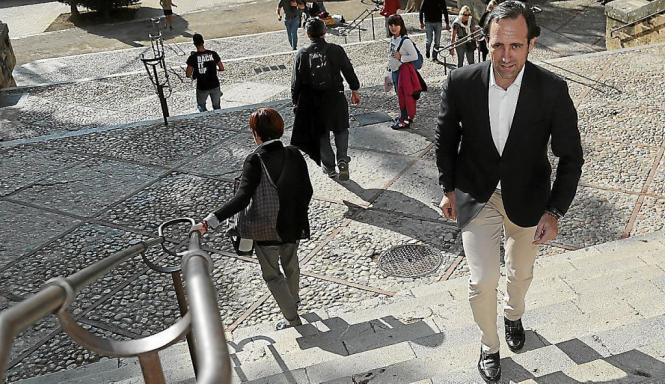 José Ramón Bauzá in der Innenstadt von Palma de Mallorca.
