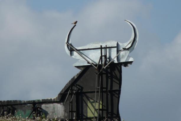 Im Jahr 2011 wurde der Stier zum bisher letzten Mal repariert.