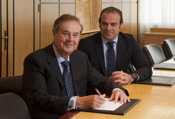 Gabriel Escarrer Jaume (r.) tritt die Nachfolge seines Vaters Gabriel Escarrer Juliá an.