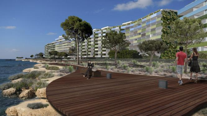 So soll der Holzweg an der Küste von Santa Ponça im kommenden Jahr aussehen.