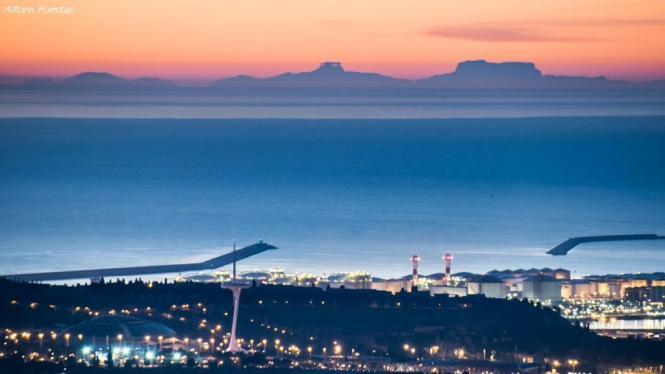 Oh wie schön ist Mallorca! Das sah man am Montagmorgen sogar von Barcelona aus.