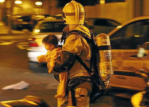 Das 15 Monate alte Kleinkind wurde aus einem brennenden Haus in Palma de Mallorca gerettet.