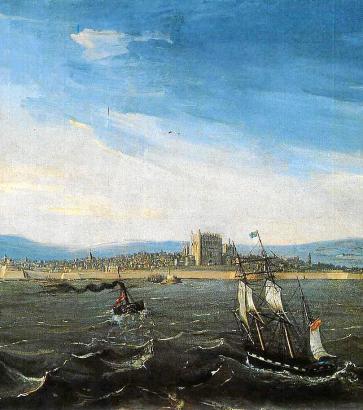 """""""Anblick des Hafens von Palma"""" hat Joan Mestre i Bosch dieses Gemälde von 1848 genannt."""
