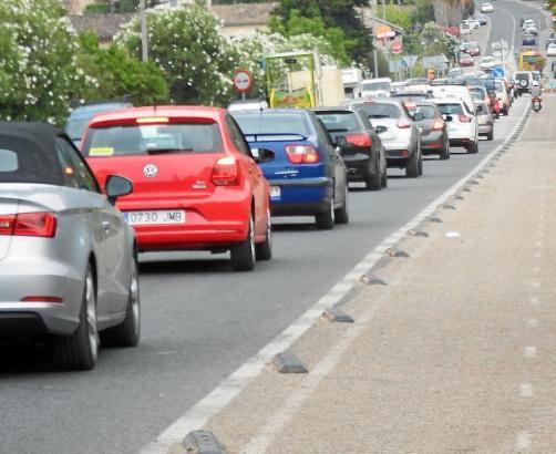 Das Verkehrsaufkommen auf den Straßen von Mallorca war im Sommer hoch.