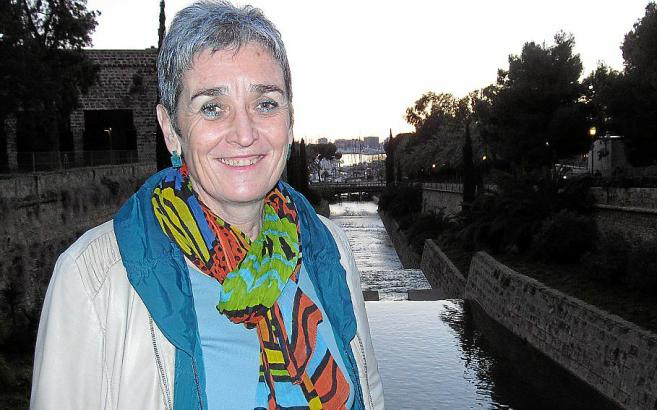 Ulrike Lunacek zu Besuch in Palma. Die Grünen-Politikerin ist das erste Mal auf Mallorca gelandet.