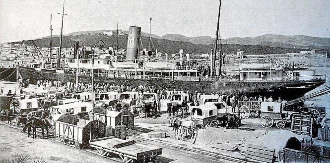"""Das Dampfschiff """"Rey Jaime I."""" war vor 100 Jahren auf dem Mittelmeer unterwegs."""