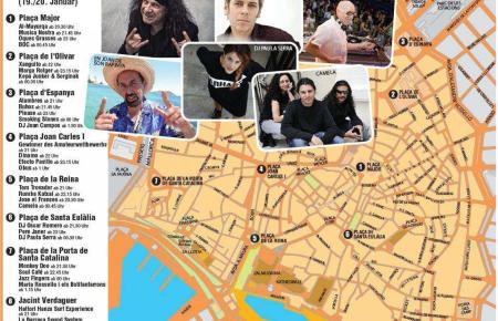 Hier sehen Sie, wo und wann die Konzerte am 19./20. Januar statt finden werden.