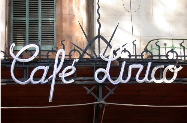 Die Fassade des Café Lírico in Palma de Mallorca.