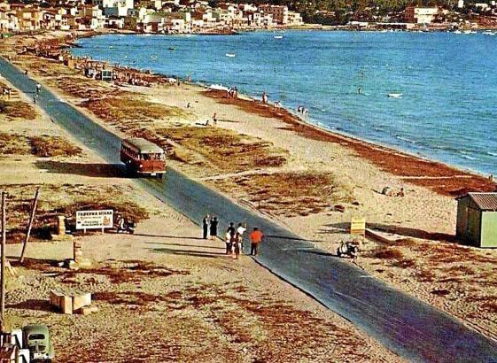 Die Playa de Palma in den frühen 1950er Jahren.
