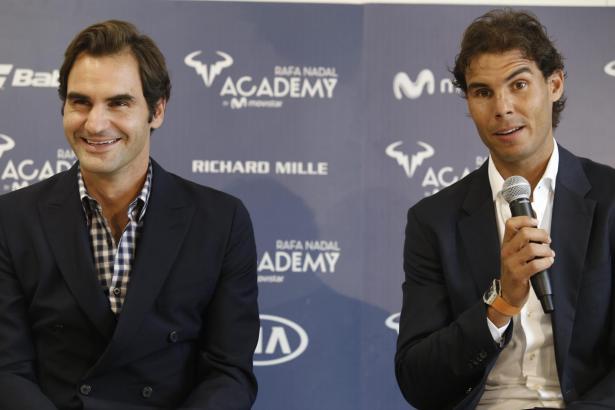 """Im vergangenen Oktober eröffnete Rafael Nadal (r.) zusammen mit Roger Federer die """"Rafa Nadal Academy"""" in Manacor."""