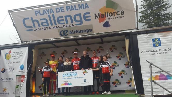 Bei der Siegerehrung in Deià standen zwei Belgier aus dem Team Lotto-Soudal auf der Bühne.