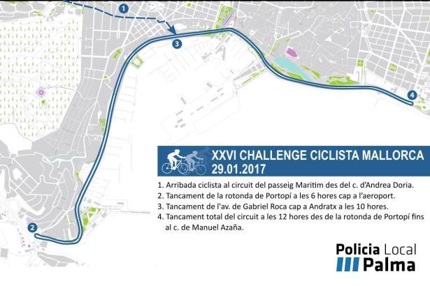 Am Sonntag ist der Paseo Marítimo gesperrt.
