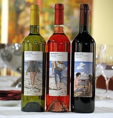 Die fruchtig-frische Produktlinie beinhaltet einen Weißen, einen Roten und einen Rosé.