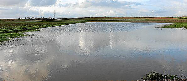 Viele Felder in der inselmitte stehen nach wie vor unter Wasser.