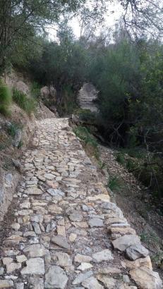 Der alte Wanderweg in Mancor de La Vall wurde von Unkraut und Gestrüpp befreit.