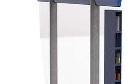 Das Design der öffentlichen Bücherregale stammt vom Mallorquiner Marc Vives Tur