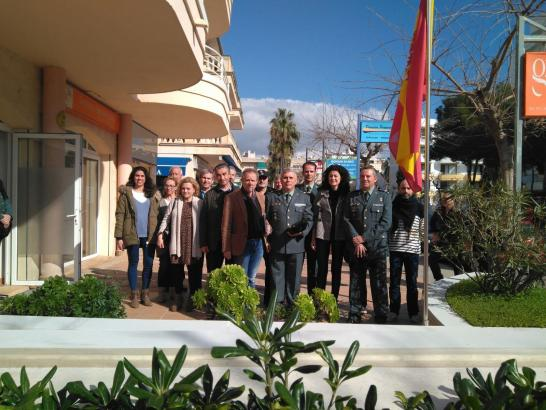 Repräsentanten der Guardia Civil und der örtlichen Rathäuser weihten die neue Polizeiwache von Cala Millor ein.