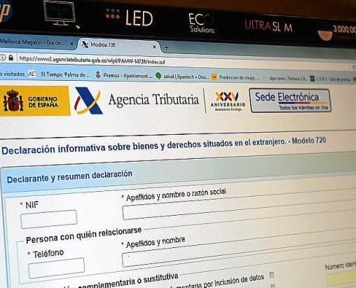 Die Erklärung zum Modelo 720 wird am Computer ausgefüllt und digital beim Finanzamt eingereicht