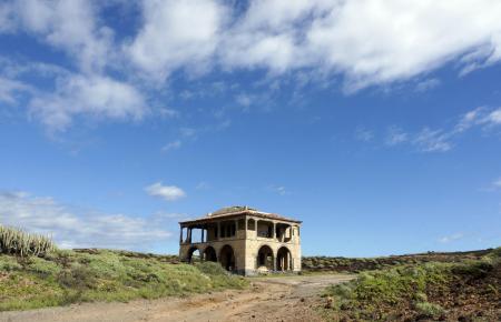 Bauruine einer Villa in Abades, Teneriffa.