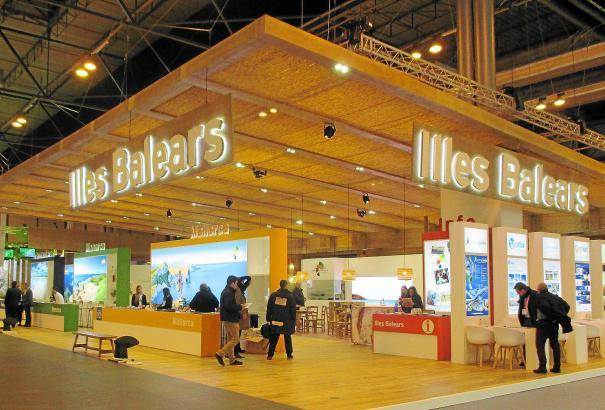 Der Messestand von Mallorca und den Schwesterinseln, wie er bereits im Januar auf der Reisemesse Fitur in Madrid zu sehen war. D