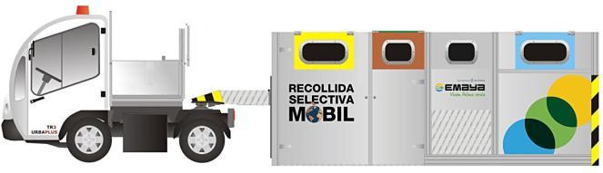 Ein kleiner Lastwagen fährt das Entsorgungssystem bald in der Altstadt hin und her. Die Müllbehälter sind 7,3 Meter lang und 1,8