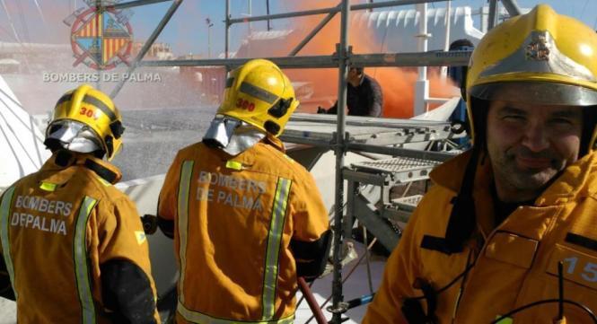 Archivbild eines Einsatzes der Feuerwehr von Palma de Mallorca.