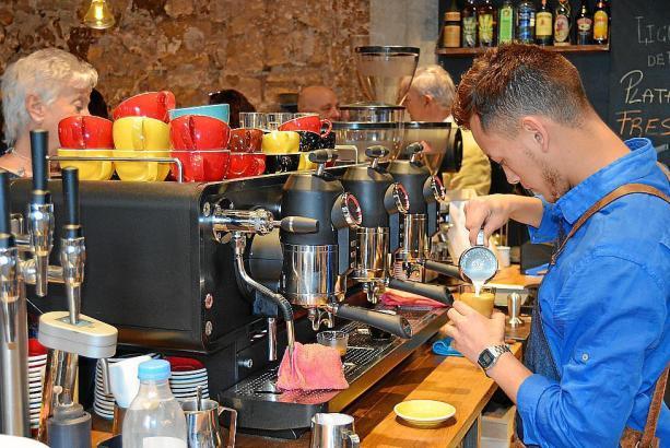 Die Kaffeemaschinen im Arabay sind von der italienischen Marke San Remo.