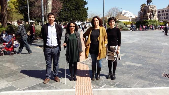 Vertreter der Stadt Palma haben das neue Blindenleitsystem präsentiert.