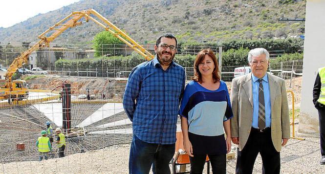 Auch Ministerpräsidentin Francina Armengol besuchte am Mittwoch die Anlage in Alcúdia.