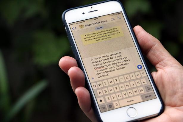 Per Whats-App an die Nummer 626 035 035 lassen sich Fragen oder Beschwerden an die Stadt Palma schnell versenden. Auch Fotos ode