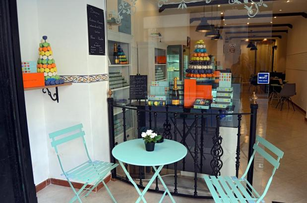 In dem Café in der Nähe des Olivar-Marktes gibt es auch Champagner, Tee, Säfte oder Kaffee.