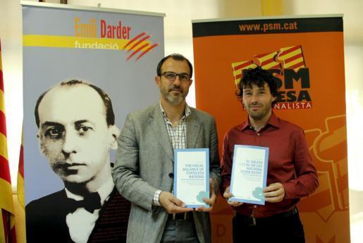 Das Archivfoto zeigt den heutigen Tourismusminister Biel Barceló (l,.) und seinen früheren Wahlkampfberater Jaume Garau.