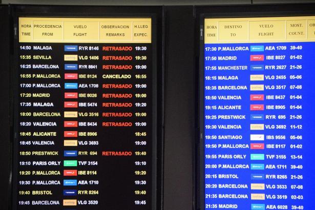 Reisende mussten am Mittwoch an den Balearen-Flughäfen Geduld aufbringen: Eine Informatikpanne im Tower von Palma legte den Flug