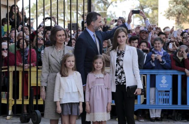 Die Königsfamilie am Ostersonntag 2015 in Palma