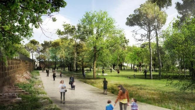 """Im Sa-Riera-Park sollen """"grüne Korridore"""" entstehen – aber das Vorhaben verzögert sich."""