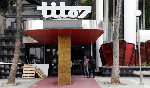 Bauarbeiten am geschlossenen Tito's in Palma.