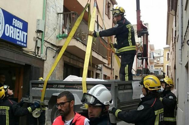 Die Feuerwehr während ihres Einsatzes in Inca
